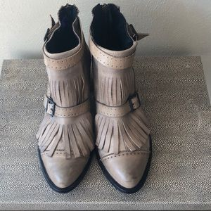 Free People Boot - Tan Collection Circle Boot